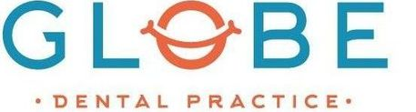 Globe Dental Practice Logo In White